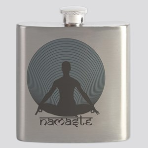Namaste-slate-blu Flask