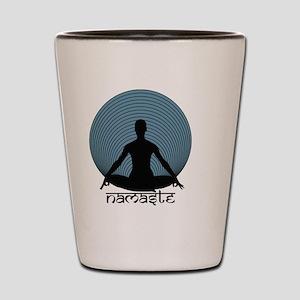 Namaste-slate-blu Shot Glass