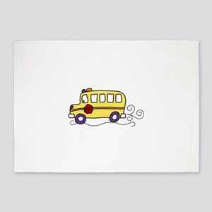 School Bus 5'x7'Area Rug
