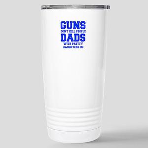 Guns dont kill people - fresh blue Travel Mug