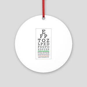 Eye Chart Ornament (Round)