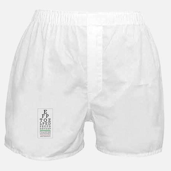 Eye Chart Boxer Shorts