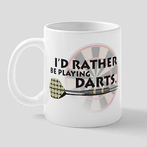 I'd rather be playing darts! Mug
