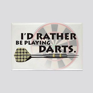 I'd rather be playing darts! Rectangle Magnet