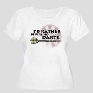 I'd rather be playing darts! Women's Plus Size Sco