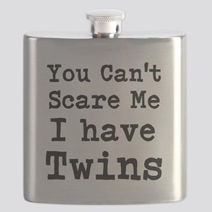 You Cant Scare Me I have Twins Flask