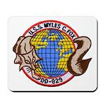 USS MYLES C. FOX Mousepad