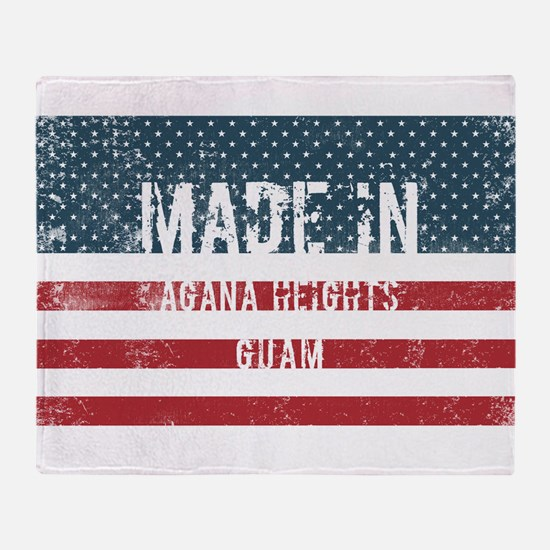 Made in Agana Heights, Guam Throw Blanket