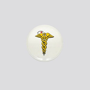 Caduceus Mini Button