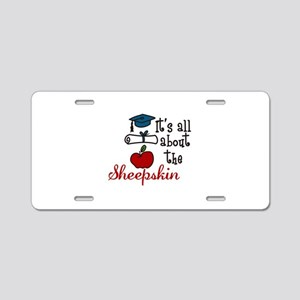 Itss all about the sheepskin Aluminum License Plat