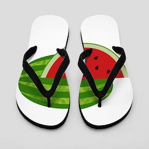211b70c11c3 Watermelon Flip Flops - CafePress