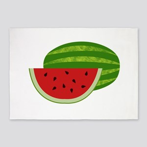 Summertime Watermelons 5'x7'Area Rug