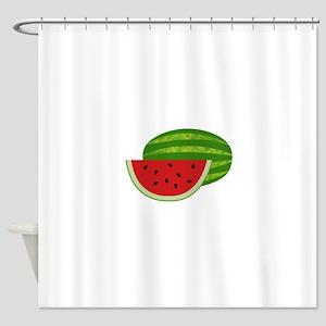 Summertime Watermelons Shower Curtain