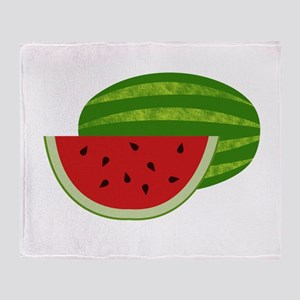 Summertime Watermelons Throw Blanket