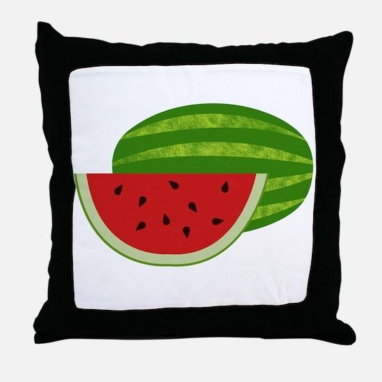 Summertime Watermelons Throw Pillow