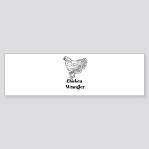 Chicken Wrangler Bumper Sticker