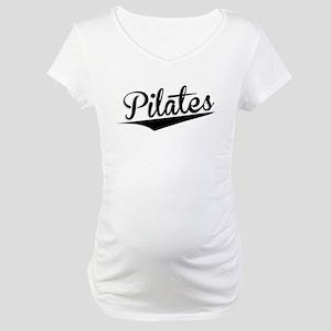 Pilates, Retro, Maternity T-Shirt