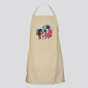 Colorful Pinto Mare and Foal Apron