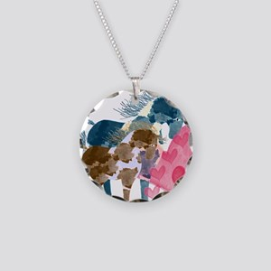 Colorful Pinto Mare and Foal Necklace