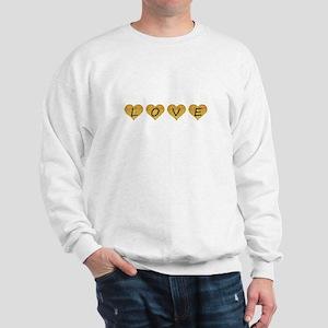 love gold glitter hearts Sweatshirt