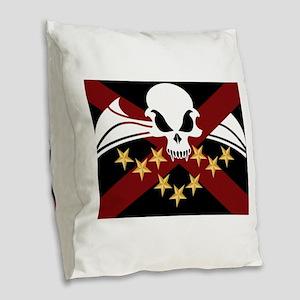 League Alliance Flag Burlap Throw Pillow