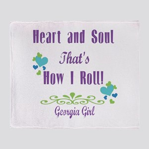 Georgia Girl Throw Blanket