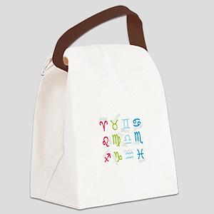 ZODIAC SIGNS Canvas Lunch Bag