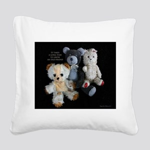 Growing Old Friends Square Canvas Pillow