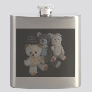 Growing Old Friends Flask
