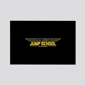 US Army Jump School Rectangle Magnet