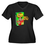 Zombie Chunks Women's Plus Size V-Neck Dark T-Shir