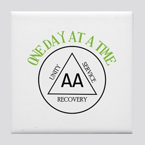 ONE DAY AT A TIME Tile Coaster