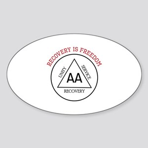 RECOVERY IS FREEDOM Sticker