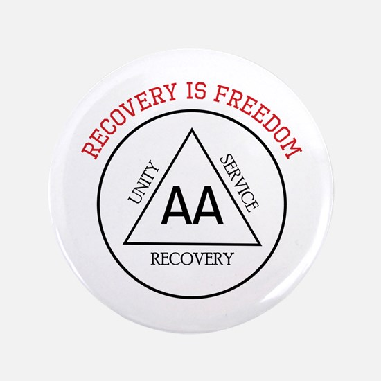"""RECOVERY IS FREEDOM 3.5"""" Button (100 pack)"""