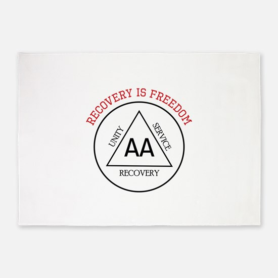 RECOVERY IS FREEDOM 5'x7'Area Rug