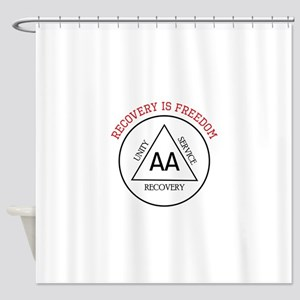 RECOVERY IS FREEDOM Shower Curtain