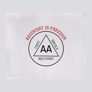 RECOVERY IS FREEDOM Throw Blanket