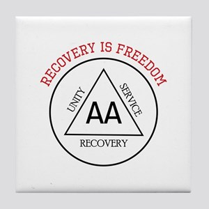 RECOVERY IS FREEDOM Tile Coaster