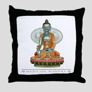Medicine Buddha Throw Pillow