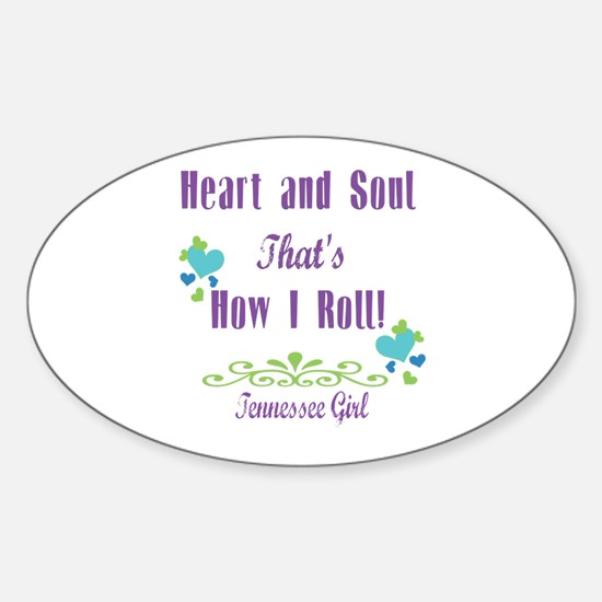 Tennessee Girl Sticker (Oval)
