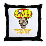 Zombie Chunks Throw Pillow