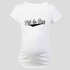 Put-In-Bay, Retro, Maternity T-Shirt