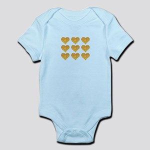 gold hearts Body Suit