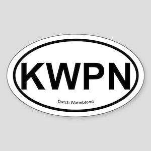 KWPN Dutch Warmblood oval Sticker