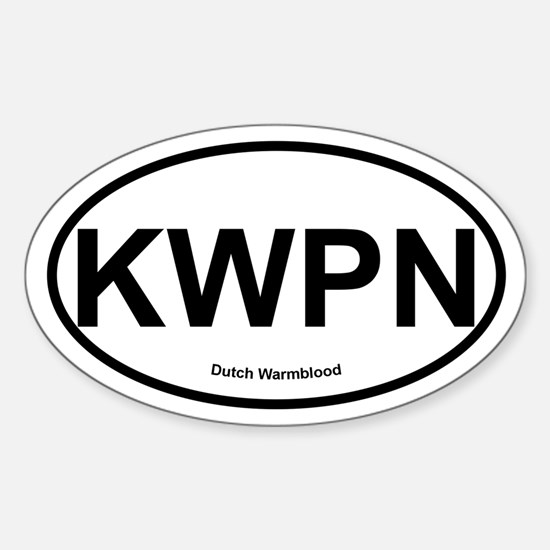 KWPN Dutch Warmblood oval Decal
