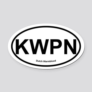 KWPN Dutch Warmblood oval Oval Car Magnet