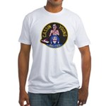 USS CASSIN YOUNG Fitted T-Shirt