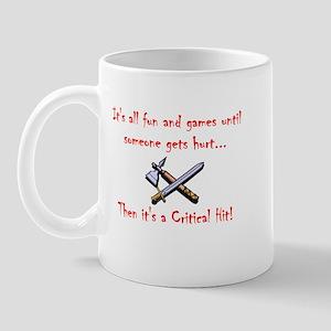 Critical Hit dark Mug
