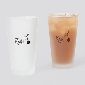 Rock And Roll Music Drinking Glass