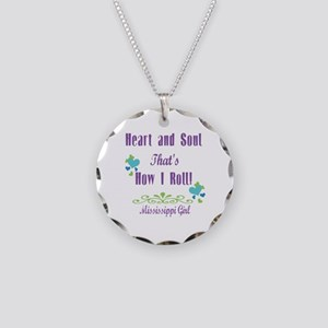 Mississippi Girl Necklace Circle Charm